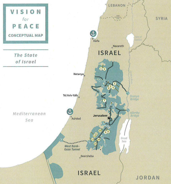 Proposed Map of Israel and Palestine
